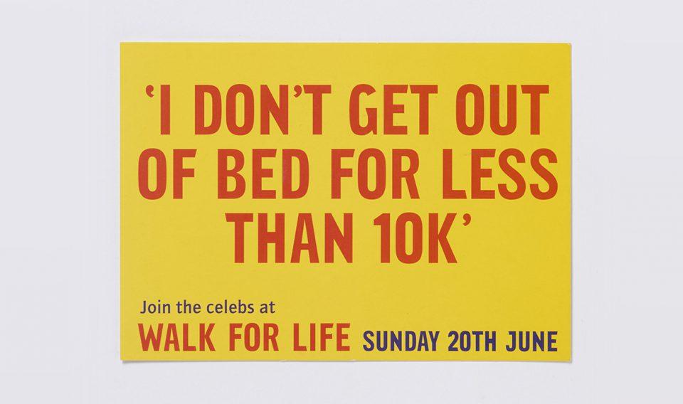 Lisa Pember - CRUSAID Walk for Life postcard